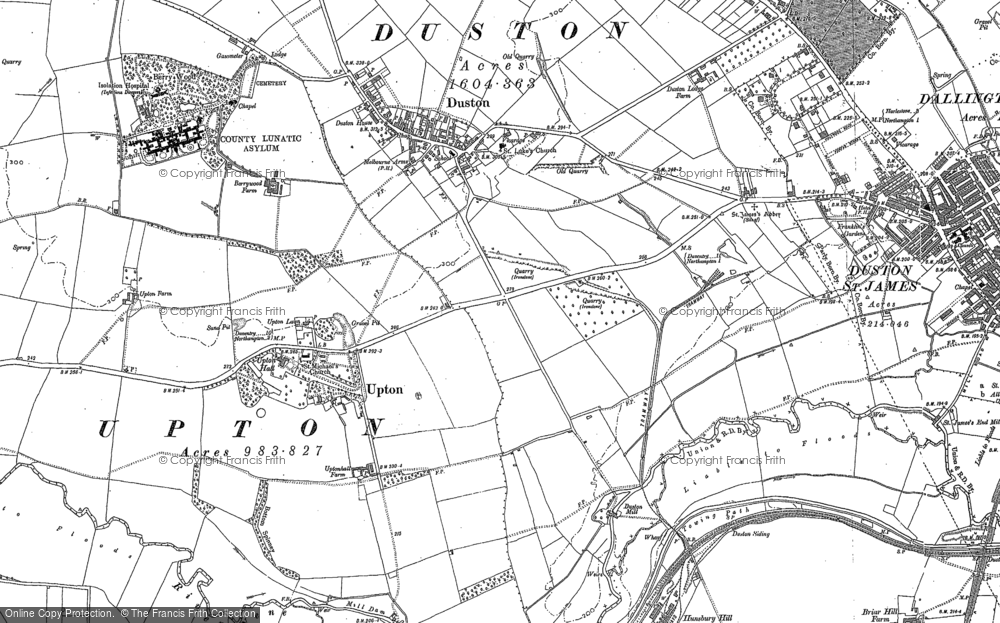 Old Maps Of Duston Francis Frith - Us map 1884