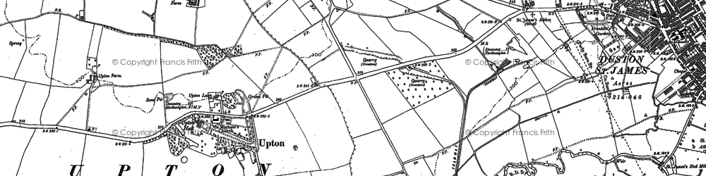 Old map of Duston in 1883