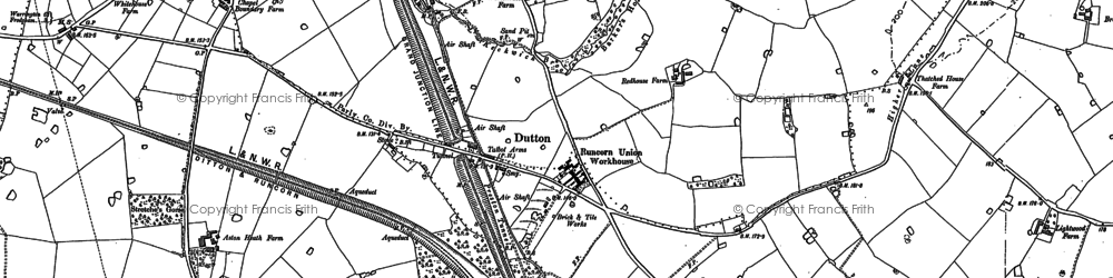 Old map of Dutton in 1879