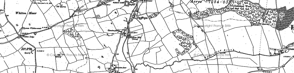 Old map of Whitton Mawr in 1898
