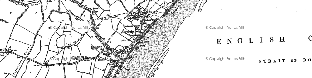 Old map of Dymchurch in 1896