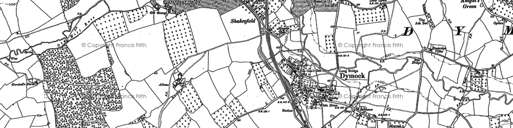 Old map of Dymock in 1882