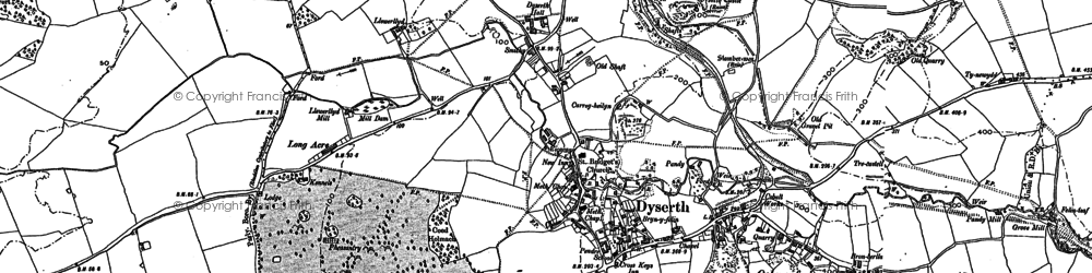 Old map of Dyserth in 1898