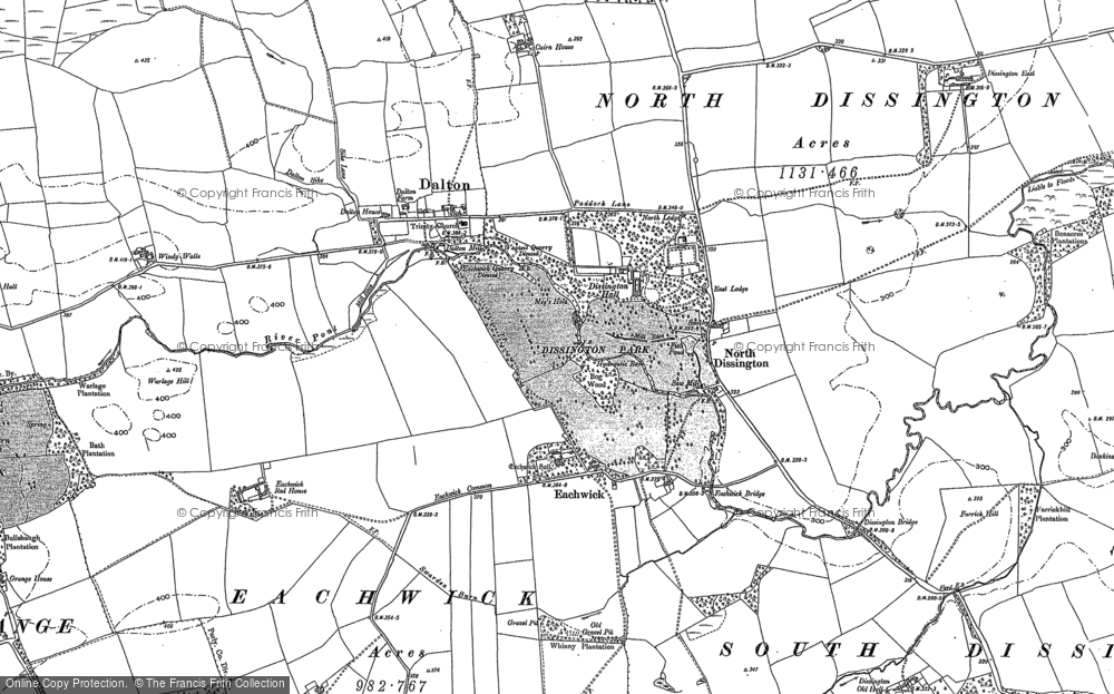 Old Map of Historic Map covering Leager Ho in 1895