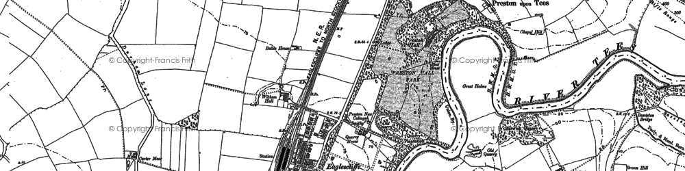 Old map of Eaglescliffe in 1913