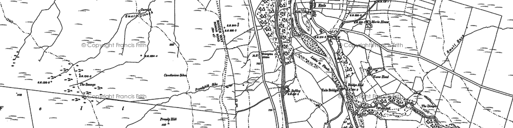 Old map of Ashholme Common in 1895