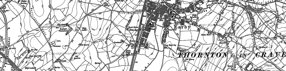Old map of Windle Field in 1892