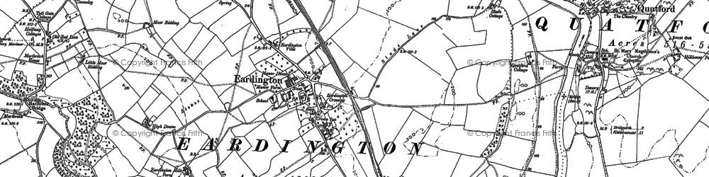 Old map of Astbury Hall in 1882