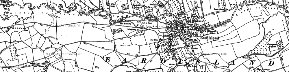 Old map of Eardisland in 1885