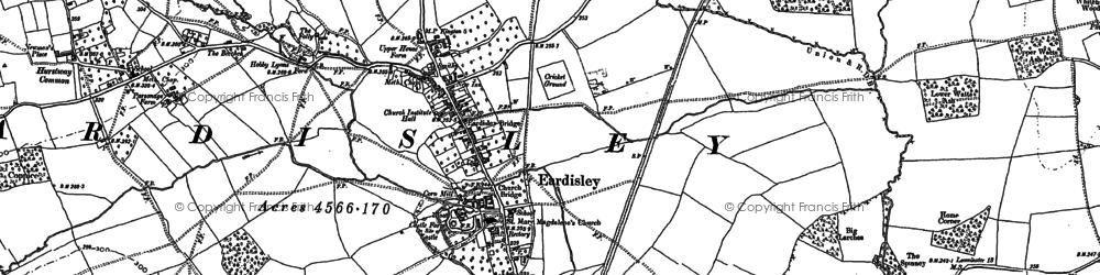 Old map of Eardisley in 1885