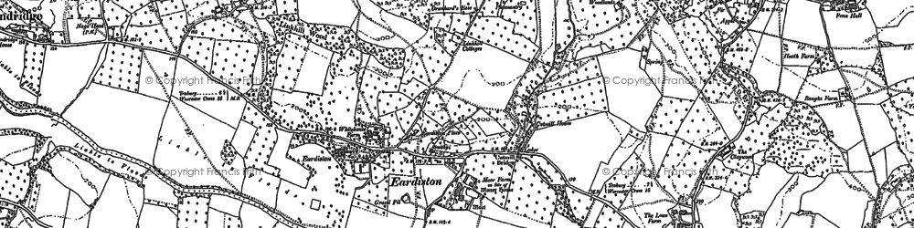 Old map of Orleton in 1883