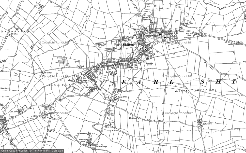 Old Map of Earl Shilton, 1886 in 1886