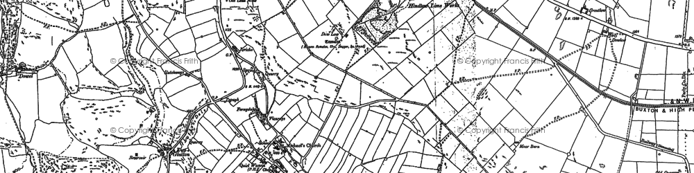 Old map of Earl Sterndale in 1897