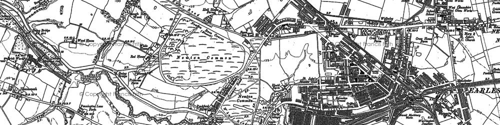 Old map of Earlestown in 1891