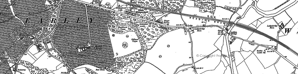 Old map of Earley in 1898