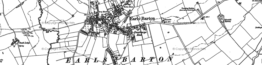 Old map of Earls Barton in 1884