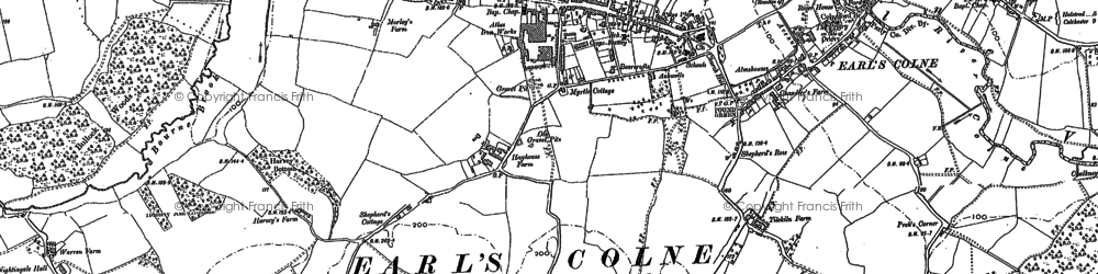 Old map of Earls Colne in 1896