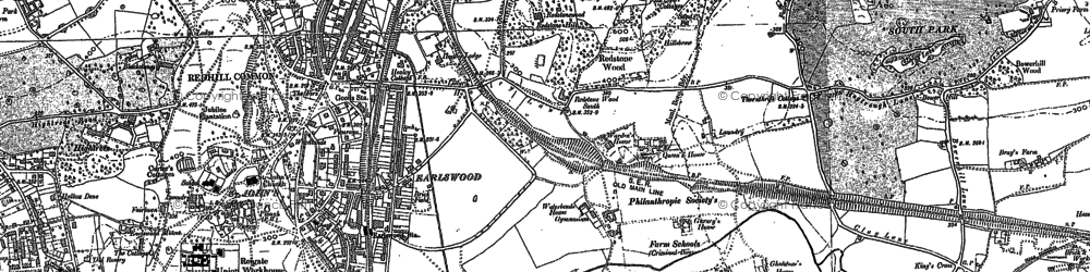 Old map of Earlswood in 1895