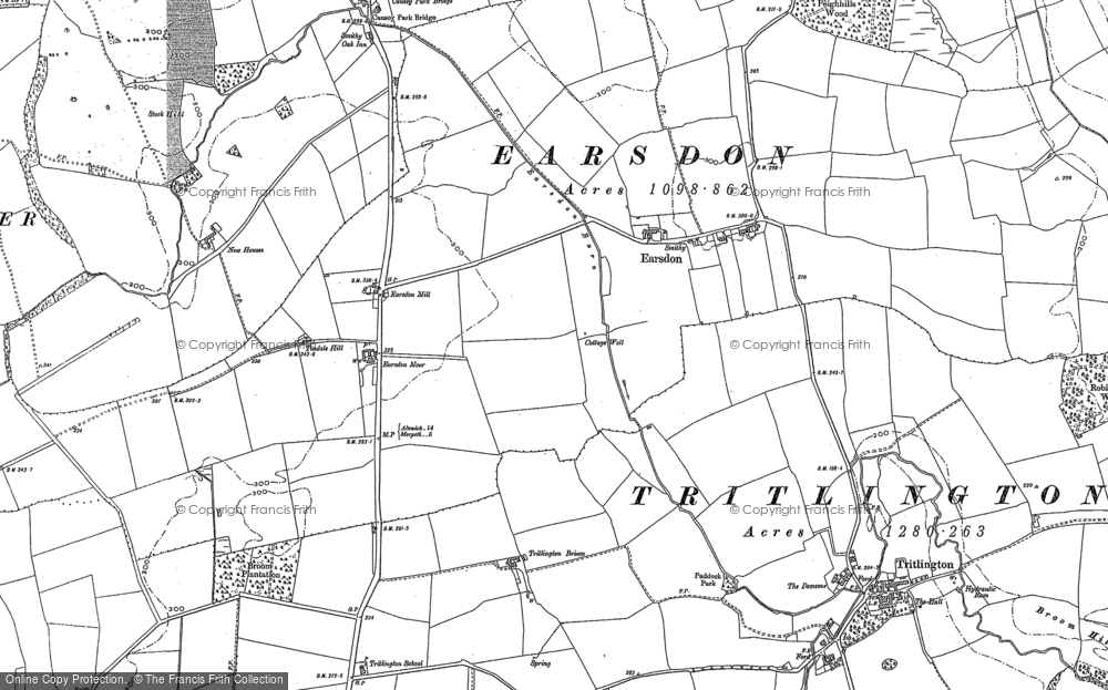 Old Map of Historic Map covering Tindale Hill in 1896