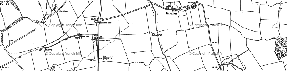 Old map of Tindale Hill in 1896
