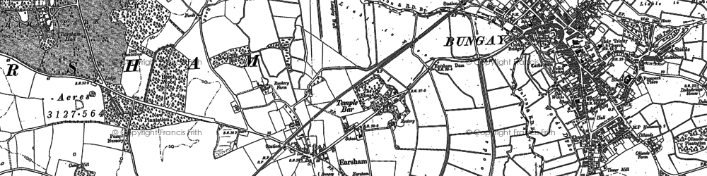Old map of Lay, The in 1903