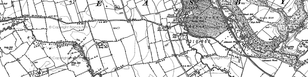 Old map of Ayton Firs in 1892