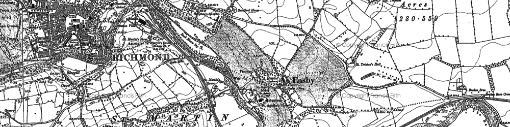 Old map of Easby in 1892