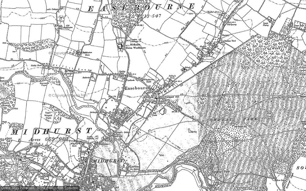 Old Map of Easebourne, 1895 - 1896 in 1895