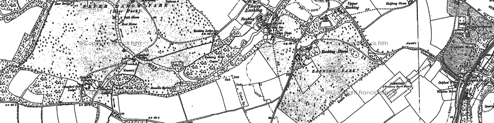Old map of Eashing in 1870