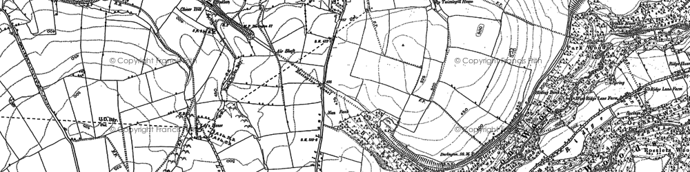 Old map of Easington in 1893