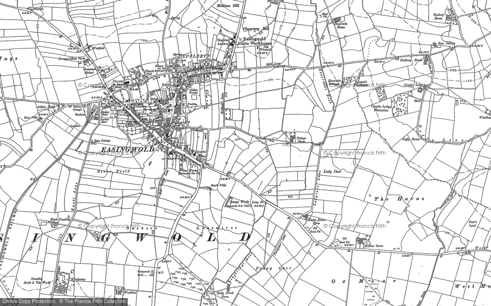 Old Map of Historic Map covering Baldrence in 1889