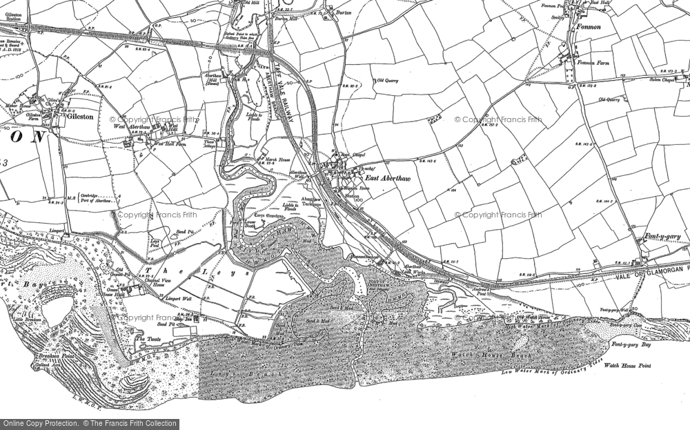Old Map of East Aberthaw, 1897 - 1914 in 1897