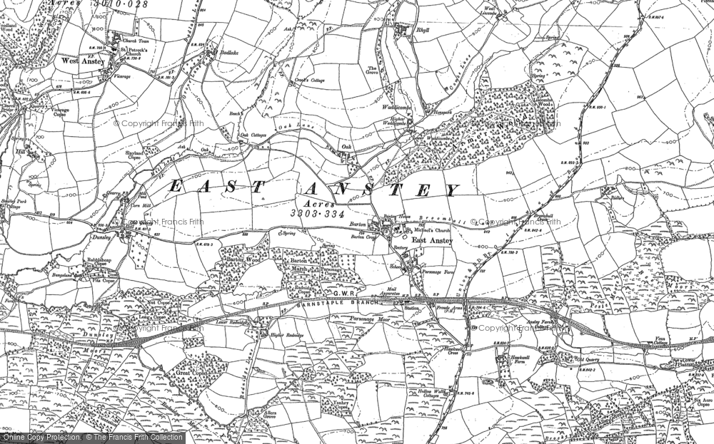 Old Map of Historic Map covering Allshire in 1903