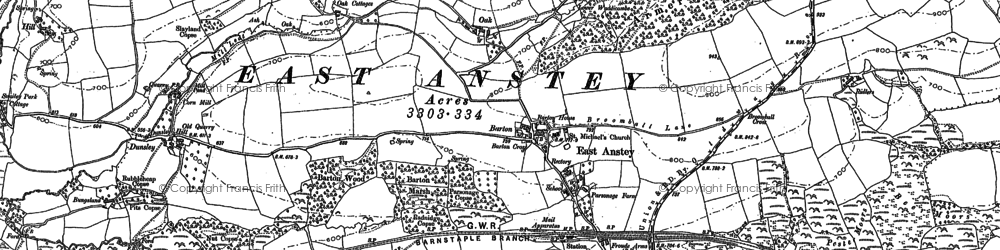 Old map of Allshire in 1903