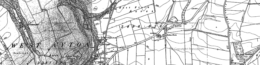 Old map of East Ayton in 1889
