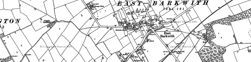 Old map of Back o' Frank's Hill in 1886