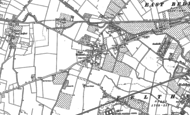 Old Map of East Bedfont, 1912 - 1913