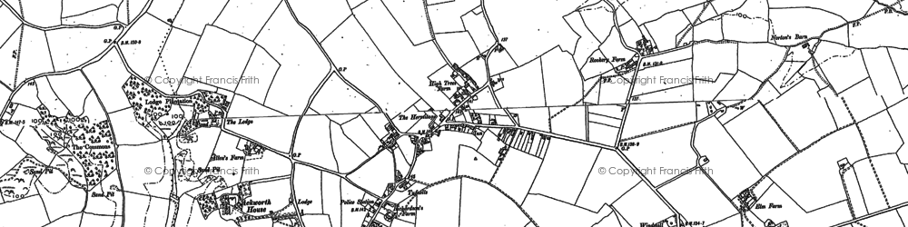 Old map of Ackworth Ho in 1884