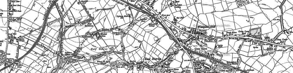 Old map of Westgate Hill in 1882