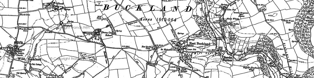 Old map of Westacott in 1886