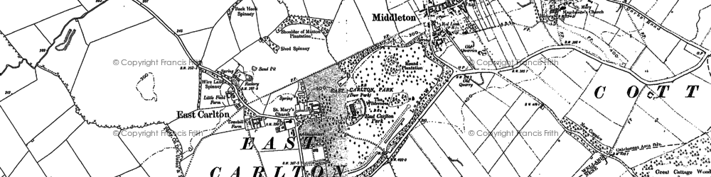 Old map of Askershaw Wood in 1885