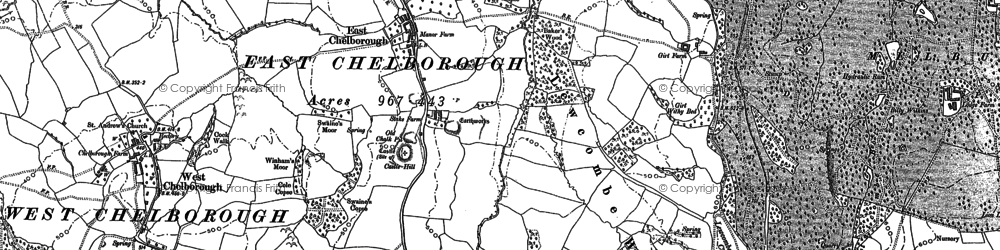 Old map of Adam's Green in 1887
