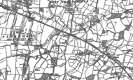 Old Map of East Chiltington, 1896 - 1898
