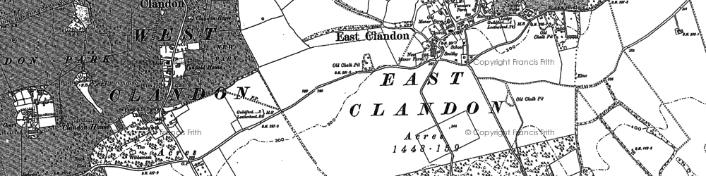 Old map of East Clandon in 1895