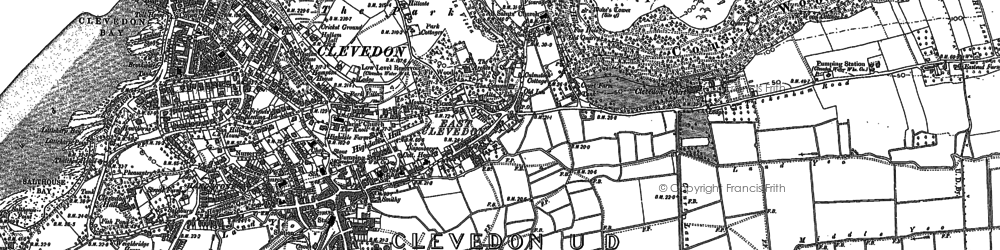 Old map of East Clevedon in 1902