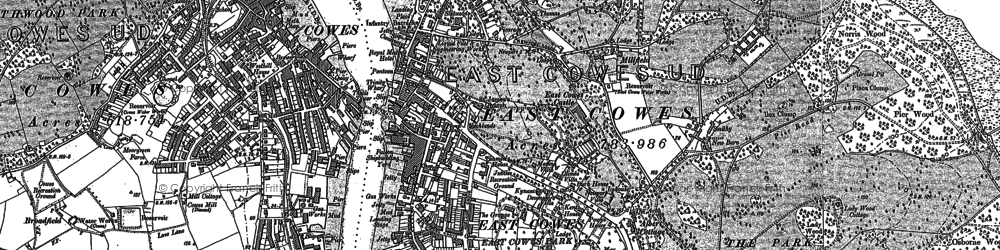 Old map of East Cowes in 1896