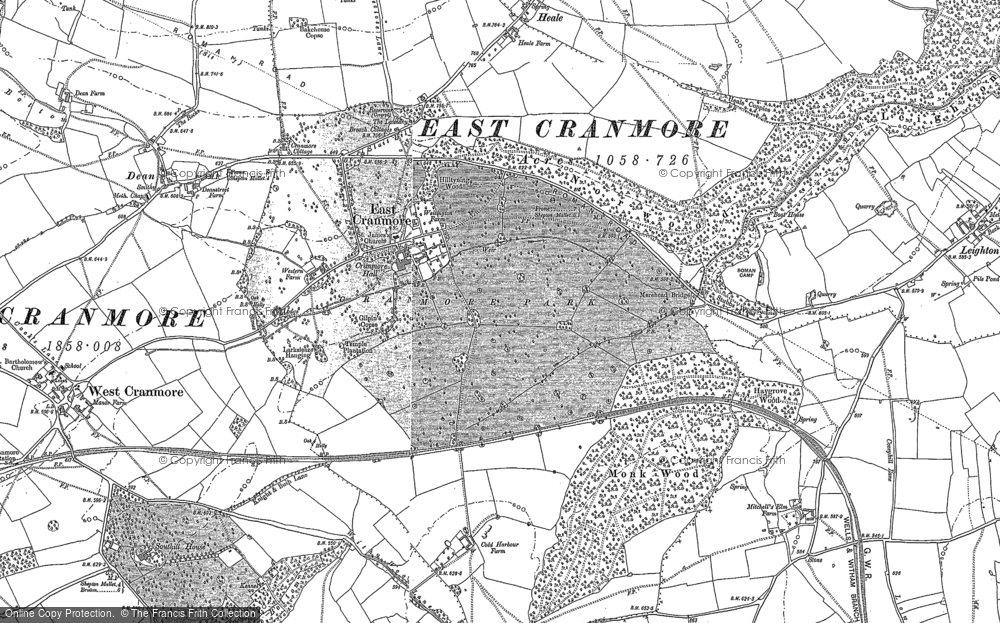 Old Map of East Cranmore, 1884 in 1884