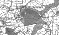 Old Map of East Cranmore, 1884