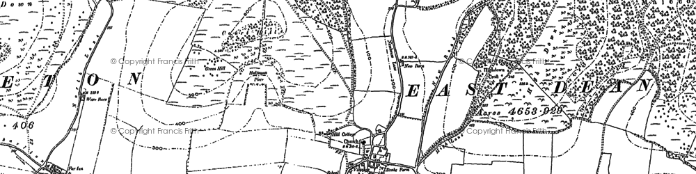 Old map of Wood Lea in 1896