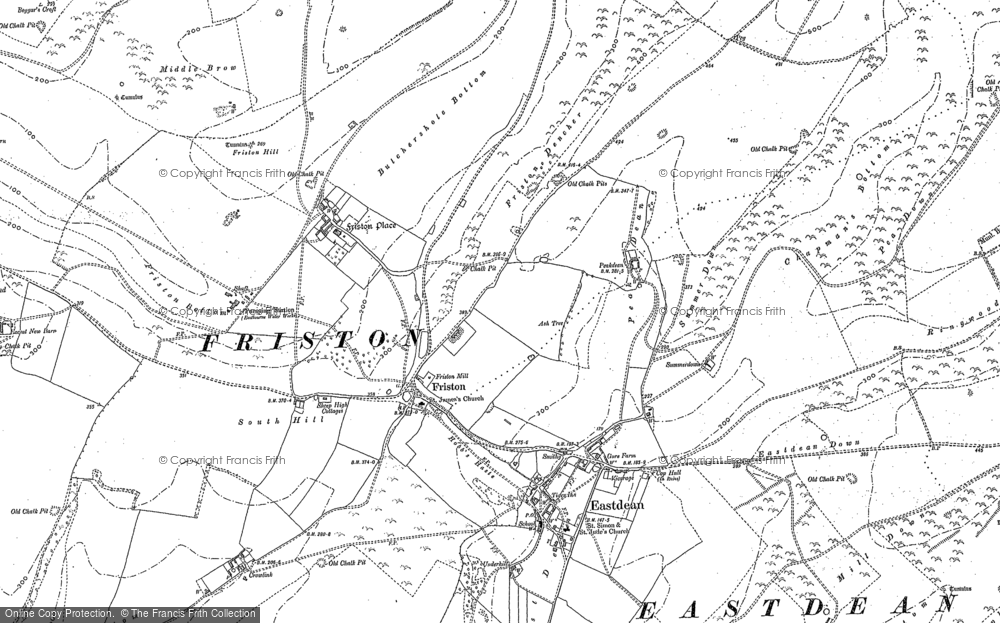 Map of East Dean, 1908